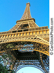 Eifel tower in Paris - Eifel tower on blue sky
