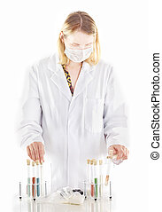 Person working in pharmaceutical laboratory