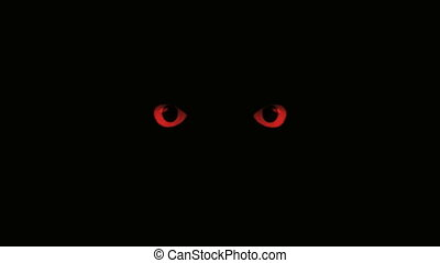 red eyes blink - blinking eyes in the dark