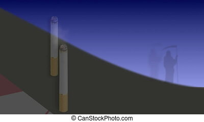 cowboy with a cigarette - stop smoking  animation