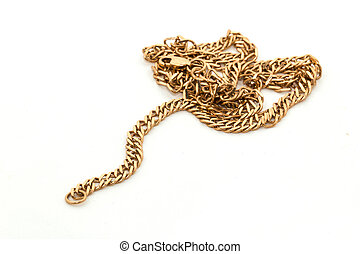 Gold chain isolated on a white background