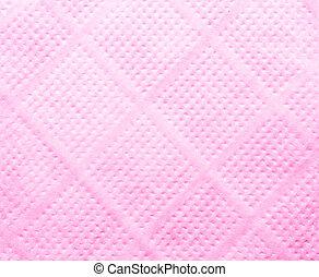 Cor-de-rosa, tecido, papel, guardanapo, textura