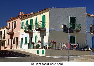 Santa Teresa - Residential street in Santa Teresa di Gallura...