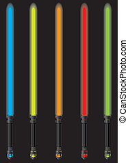 set of lightsabers