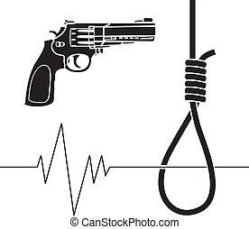 suicide. stencil