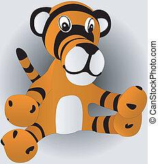 toy tiger cub