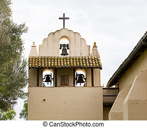 Cloudy day at Santa Ines Mission California - Mission Santa...