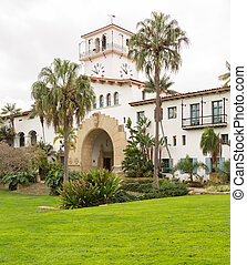 Exterior Santa Barbara Courthouse California - Exterior of...