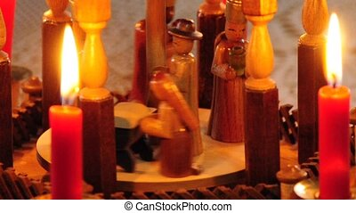 Christmas pyramid - art,born,candles,carousel,Christmas...