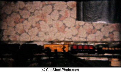 Model Railroad Train Set-1958 - A cool clip of a model...