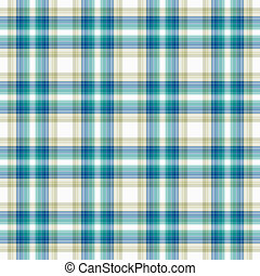 Seamless Aqua, Blue, White, and Beige - Seamless plaid in...