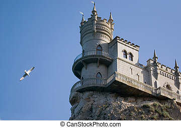 The well-known castle quot;Swallows Nestquot; near Yalta in...