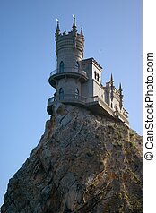 "The well-known castle \""Swallow\\\'s Nest\\\"" near Yalta..."