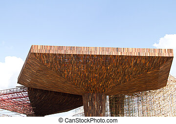 Wooden roof squares