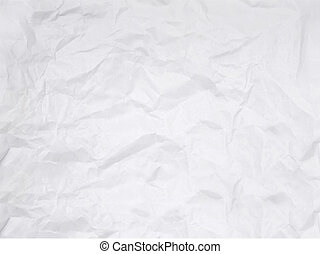 Crushed Paper - Crushed white paper isolated on white...