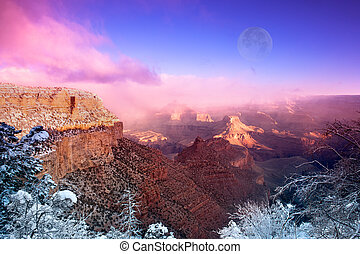 Grand Canyon - A dramatic winter image of the Grand Canyon...