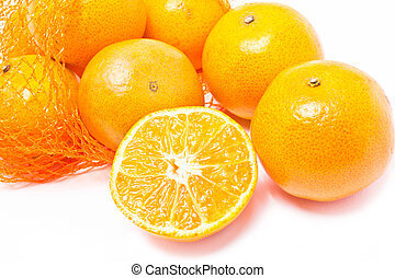 Orange fruits.