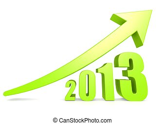 Growth of 2013 - Rendered artwork with white background