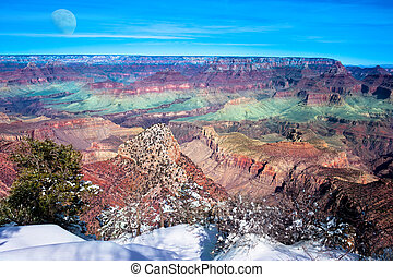 Grand Canyon - A beautiful image of the Grand Canyon during...