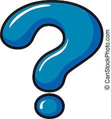 A question mark symbol