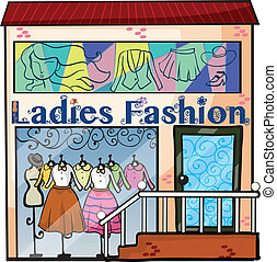 A ladies fashion store - Illustration of a ladies fashion...
