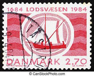Postage stamp Denmark 1987 Boat