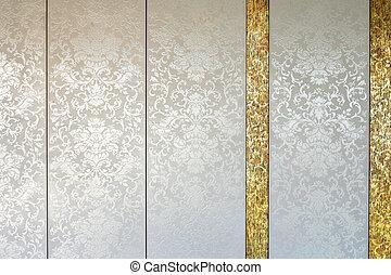 Vintage tiles white - Vintage luxurious tiles in white with...