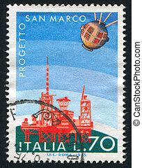 Satellite and San Rita launching platform - ITALY - CIRCA...