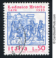 King Roland - ITALY - CIRCA 1974: stamp printed by Italy,...