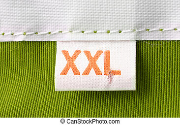 clothing label - real macro of XXL size clothing label