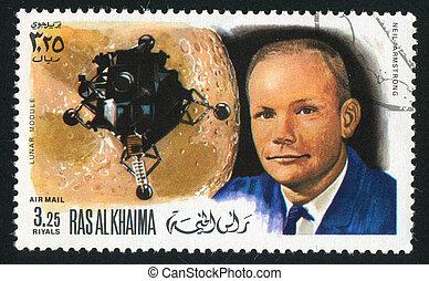 Lunar Module and Neil Armstrong - RAS AL KHAIMA - CIRCA...