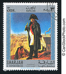 Napoleon - SHARJAH AND DEPENDENCIES - CIRCA 1972: stamp...