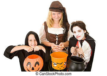 Halloween Candy Please - Three adorable trick or treaters...