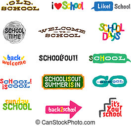 Label - School Icons
