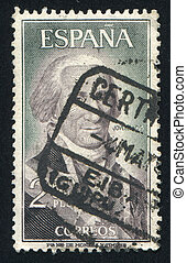 Jovellanos - SPAIN - CIRCA 1965: stamp printed by Spain,...