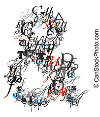 Ampersand sign , alphabet from letters - Ampersand sign ,...