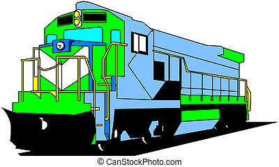 Elétrico, locomotiva