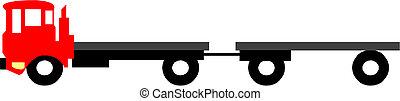 Vector semi-truck - Vector  semi-truck