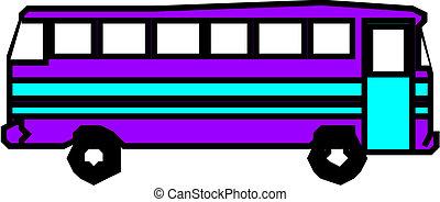 Vector urban bus