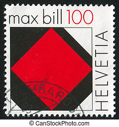 Concrete art by Max Bill - SWITZERLAND - CIRCA 2008: stamp...
