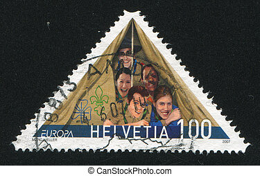 Scouting - SWITZERLAND - CIRCA 2007: stamp printed by...