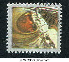 Wally Schirra - UMM AL-QUWAIN - CIRCA 1972: stamp printed by...