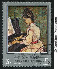 Portrait of Marguerite Gachet by Van Gogh - YEMEN - CIRCA...