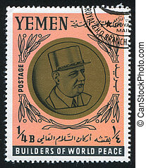 Charles De Gaulle - YEMEN - CIRCA 1968: stamp printed by...