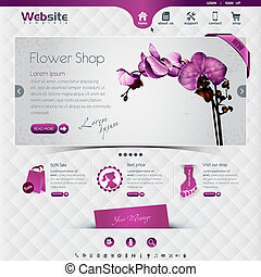 flower shop - website template for flower shop and web shop,...