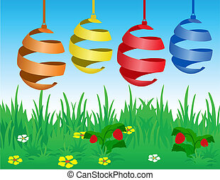 Easter card with stylized eggs