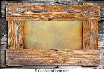 Wood frame.