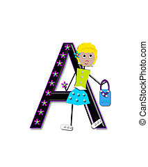 Alphabet Diva Dolly A - The letter A, in the alphabet set...