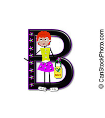 Alphabet Diva Dolly B - The letter B, in the alphabet set...