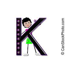 Alphabet Diva Dolly K - The letter K, in the alphabet set...